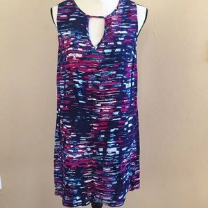 Michael Stars Tank Dress With Front keyhole S